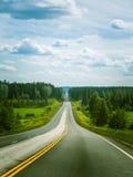 Via de weg van Karelië in Finland Stock Foto