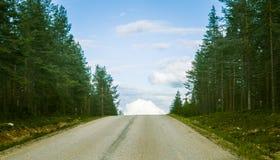 Via de weg van Karelië in Finland Royalty-vrije Stock Foto