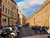 Via Dei Corridori, Vaticanen - Rome, Italien arkivbild
