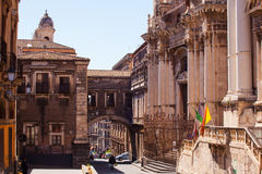 Via dei Crociferi, Catania Royalty Free Stock Photo
