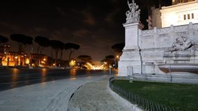 Via dei Fori Imperiale view of the Coliseum. Rome stock footage