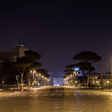 Via dei Fori Imperiali in Rome at Night Stock Image