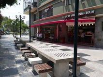 Via dei gamers di scacchi nel distretto di Miraflores di Lima Immagine Stock