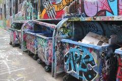 Via dei graffiti di Melbourne Fotografie Stock