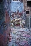 via dei graffiti urbana Immagine Stock Libera da Diritti
