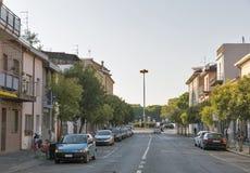 Via dei Mille street in Rimini, Italy. Stock Photo