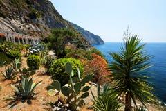 Via del Amore op de Ligurian kust Royalty-vrije Stock Foto