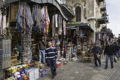 Via del bazar a Gerusalemme Immagine Stock Libera da Diritti