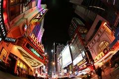 Via del Broadway, New York Immagine Stock Libera da Diritti