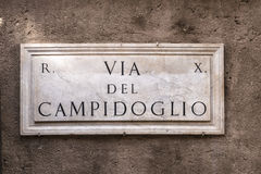 Via del Campidoglio Stock Photo
