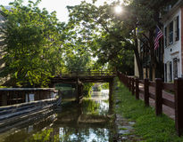 Via del canale a Georgetown Immagine Stock