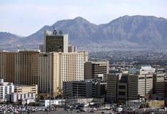 Via del centro storica del fremont di Las Vegas Immagini Stock Libere da Diritti