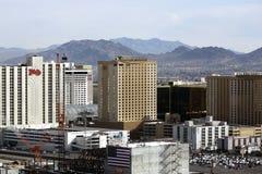 Via del centro storica del fremont di Las Vegas Fotografia Stock