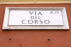 Via del Corso Royalty Free Stock Images