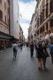 Via del Corso in Rome Stock Images