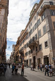 Via del Corso in Rome royalty free stock images