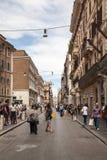 Via del Corso in Rome Stock Photo