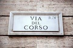 Via del Corso in Rome, Italy Royalty Free Stock Photos