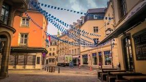 Via del Lussemburgo di mattina Immagine Stock Libera da Diritti