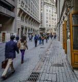 Via del mercato azionario, città Santiago, Cile #2 della La Fotografie Stock