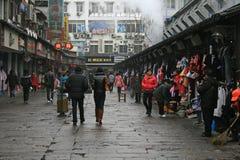 Via del mercato di Fuzimiao Immagini Stock