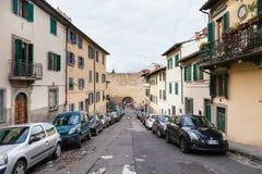 Via del Monte alle Croci and Porta San Miniato Stock Images