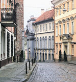Via del oldtown di Vilnius Fotografie Stock Libere da Diritti