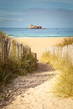 Via del paesaggio della spiaggia Fotografia Stock