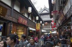 Via del pedone di Chengdu Jinli fotografia stock libera da diritti