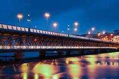 Via del ponte Derry Londonderry L'Irlanda del Nord Il Regno Unito Fotografia Stock Libera da Diritti