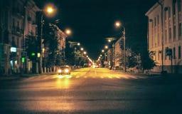 Via del Russo di notte Fotografie Stock