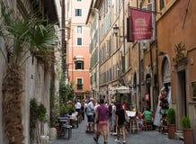 Via del Seminario near Pantheon in Rome, Royalty Free Stock Photo