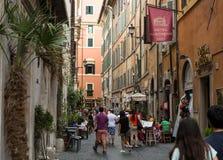 Via del Seminario near Pantheon in Rome Royalty Free Stock Photography