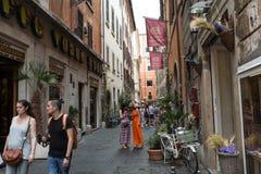 Via del Seminario near Pantheon in Rome Stock Photo