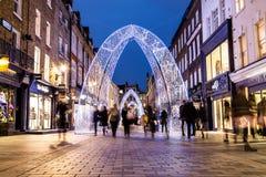 Via del sud di Molton a Londra durante il periodo di Natale Fotografia Stock Libera da Diritti