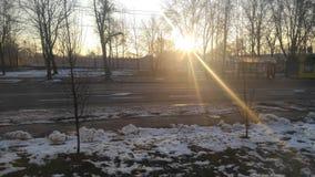 Via del tramonto Fotografia Stock