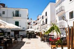 Via del typicall di Eivissa Fotografie Stock