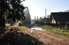 Via del villaggio Fotografie Stock Libere da Diritti