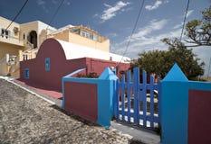 Via del villaggio con le costruzioni multicolori Fotografia Stock Libera da Diritti