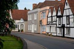 Via del villaggio, Regno Unito Fotografia Stock