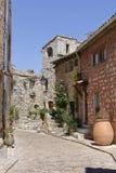 Via del villaggio Tourrettes-sur-Loup in Francia Immagini Stock Libere da Diritti