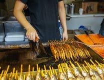 Via dell'alimento alla città del Jilin a Chengdu immagine stock
