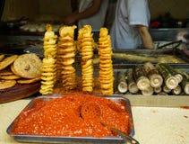 Via dell'alimento alla città del Jilin a Chengdu fotografia stock