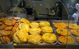 Via dell'alimento alla città del Jilin a Chengdu fotografia stock libera da diritti