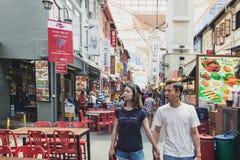 Via dell'alimento di Chinatown a Singapore fotografia stock