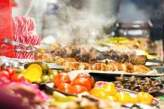 Via dell'alimento festiva Fotografie Stock Libere da Diritti