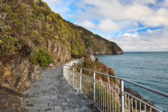 Via dell amor of Cinque Terre Royalty Free Stock Photo