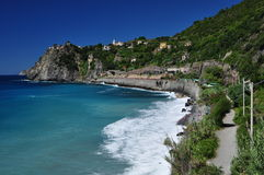 Via dell'amore, Cinque Terre Stock Photo