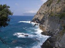 ?Via dell'Amore? in Cinque Terre, Italia. Fotografia Stock Libera da Diritti
