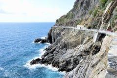Via Dell'Amore in Cinque Terre, Italy stock photos